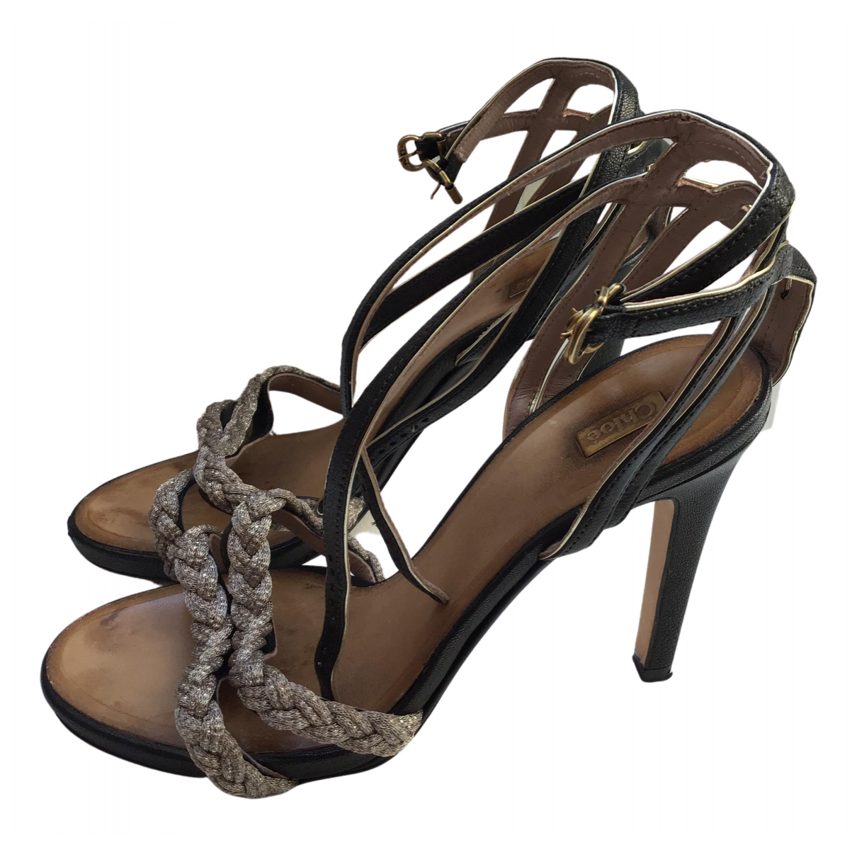 Chloé N Gold Leather Sandals for Women 39 EU
