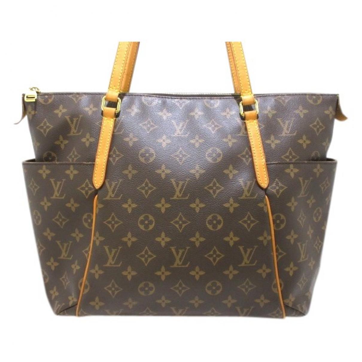 Louis Vuitton - Sac a main Totally pour femme en toile - marron