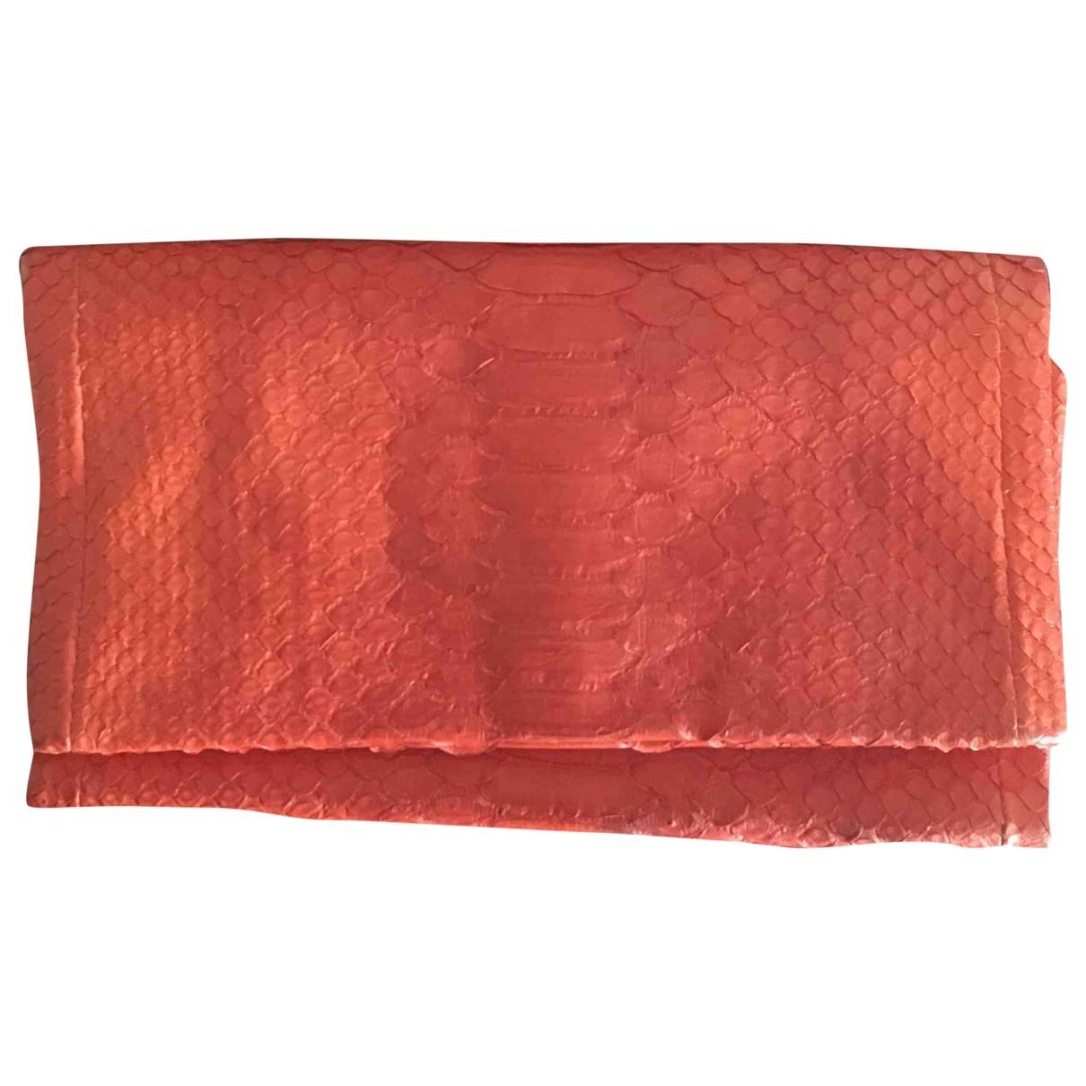 Non Signe / Unsigned \N Handtasche in  Orange Python