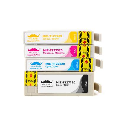 Epson 127 T127 cartouche d'encre compatible combo extra haute capacité BK/C/M/Y - Moustache®