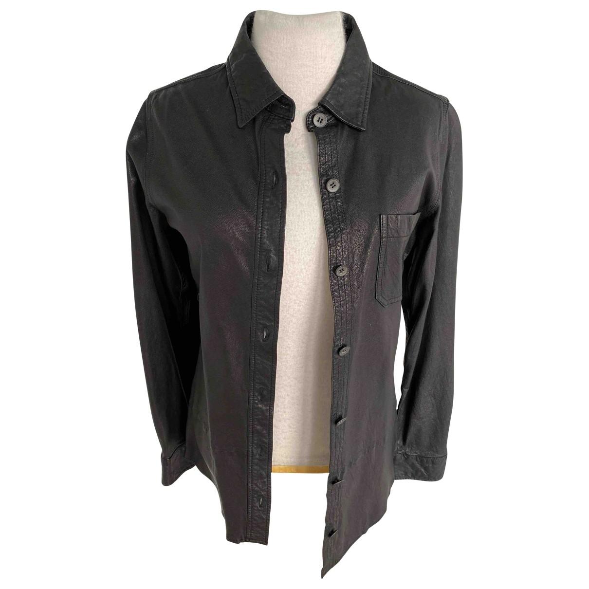 Equipment - Veste   pour femme en cuir - noir