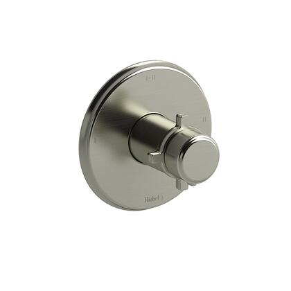 Momenti TMMRD23+BN 2-Way Thermostatic/Pressure Balance Coaxial Valve Trim with + Cross Handles  in Brushed