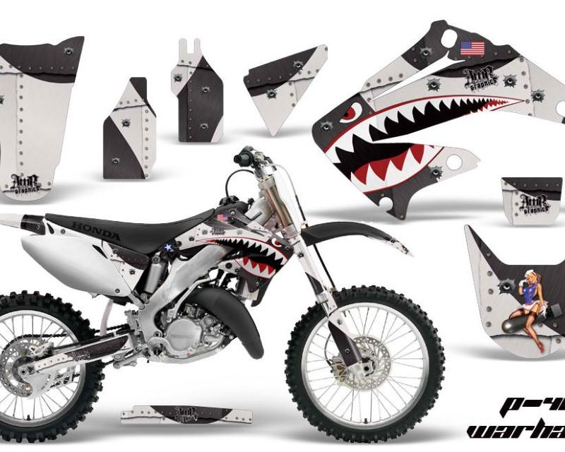 AMR Racing Dirt Bike Graphics Kit Decal Wrap For Honda CR125R | CR250R 2002-2008áWARHAWK BLACK
