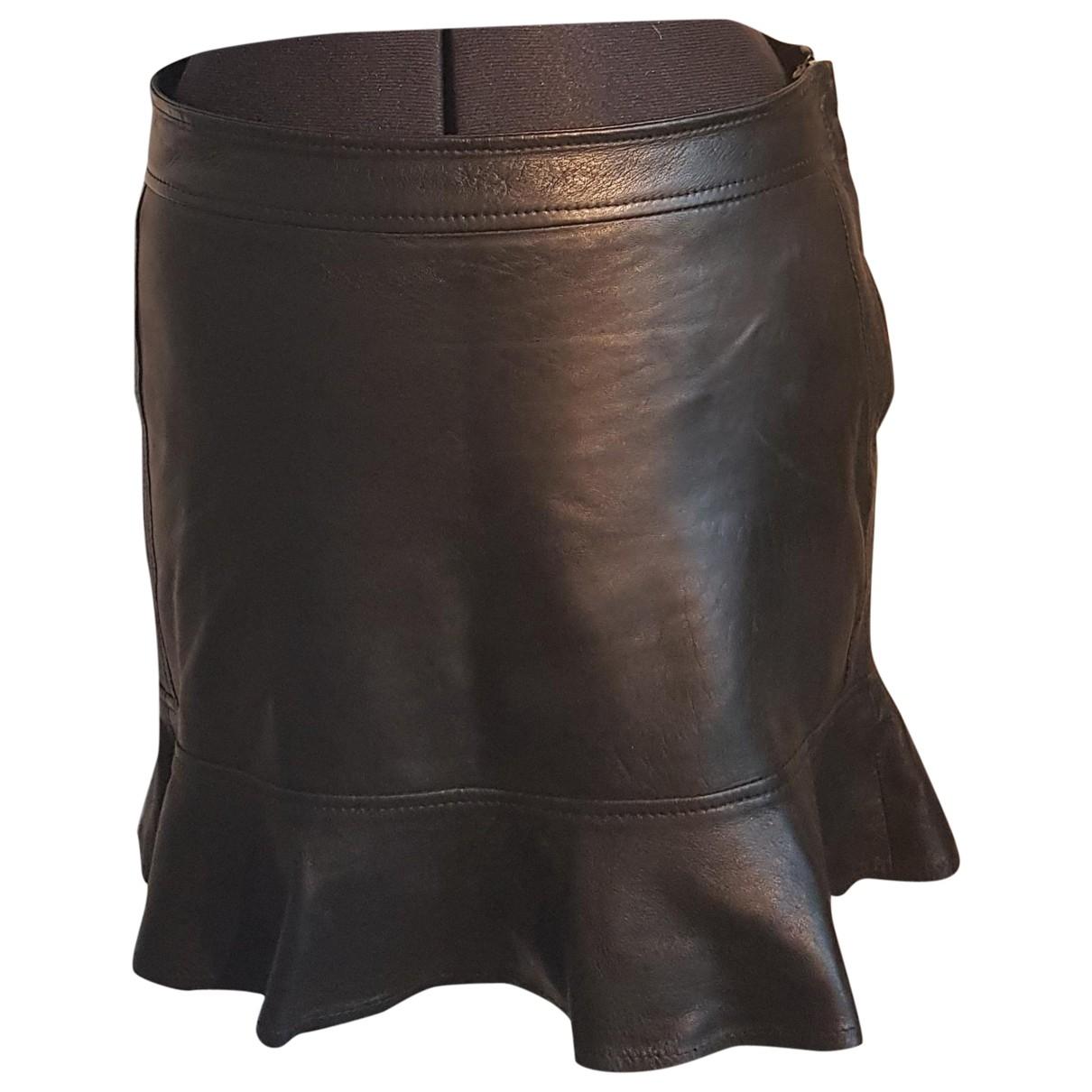 Diesel Black Gold - Jupe   pour femme en cuir - noir