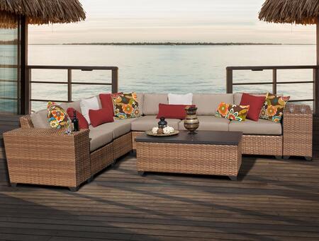 LAGUNA-09b Laguna 9 Piece Outdoor Wicker Patio Furniture Set 09b with 1 Cover in