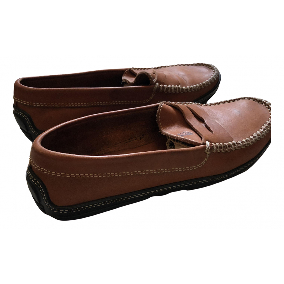 Tod's \N Brown Rubber Flats for Women 35.5 EU