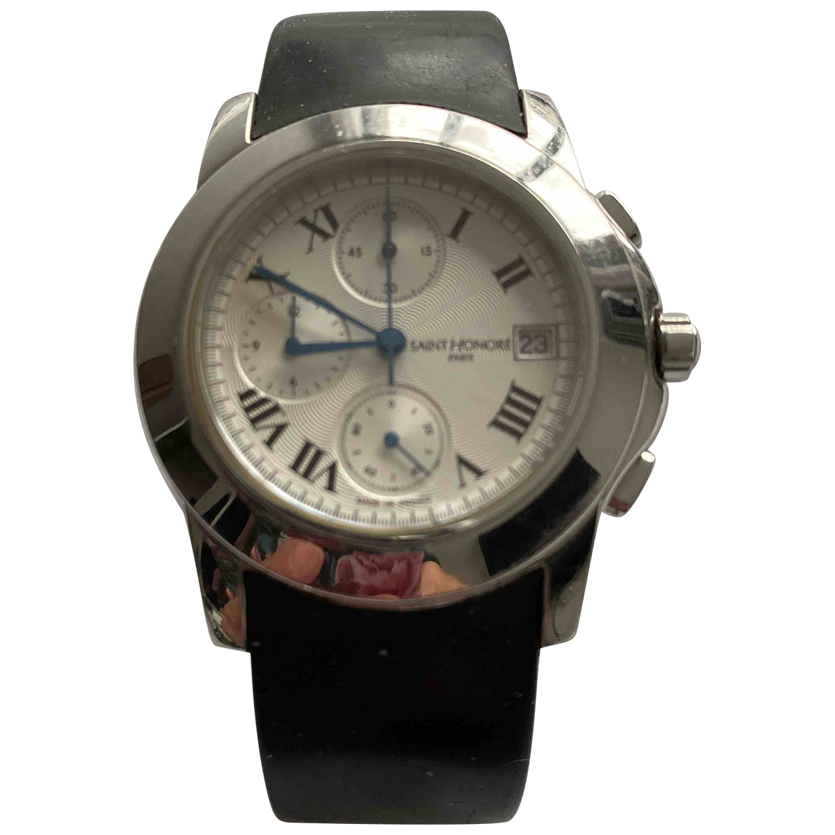 Saint Honoré \N Black Steel watch for Men \N