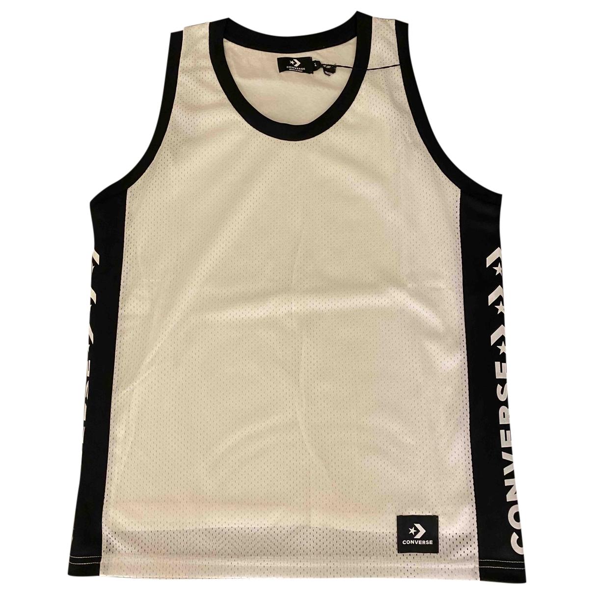 Converse - Tee shirts   pour homme en coton - blanc