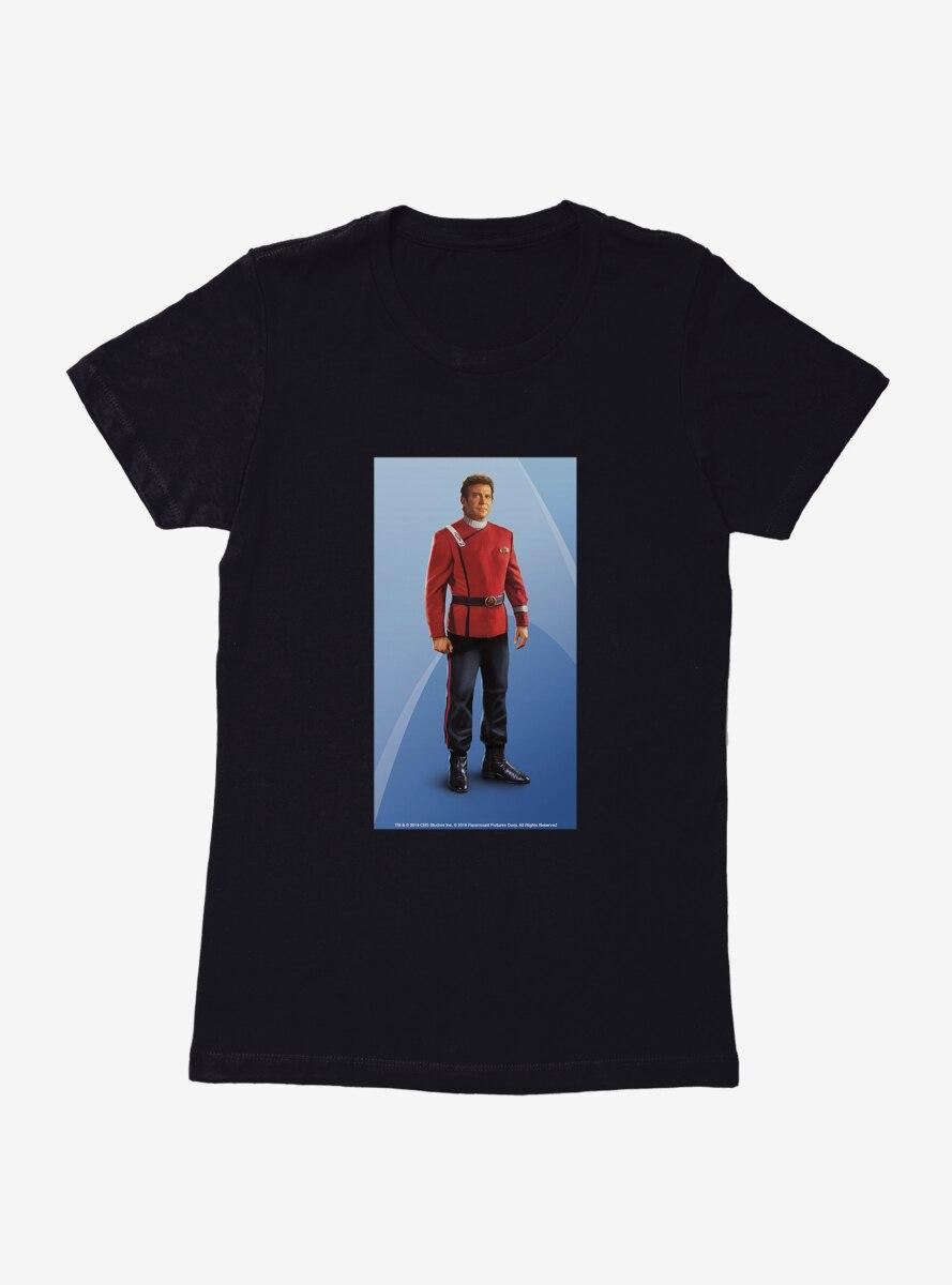 Star Trek Kirk Pose Womens T-Shirt