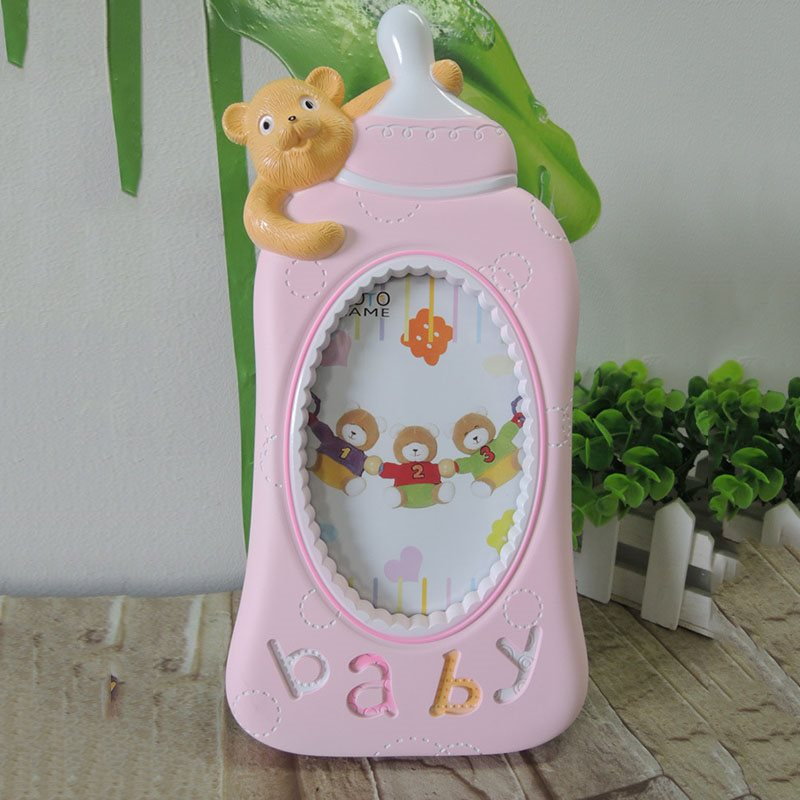 Six-inch Cartoon Frame Bear Bottle Design Baby Photo Frame