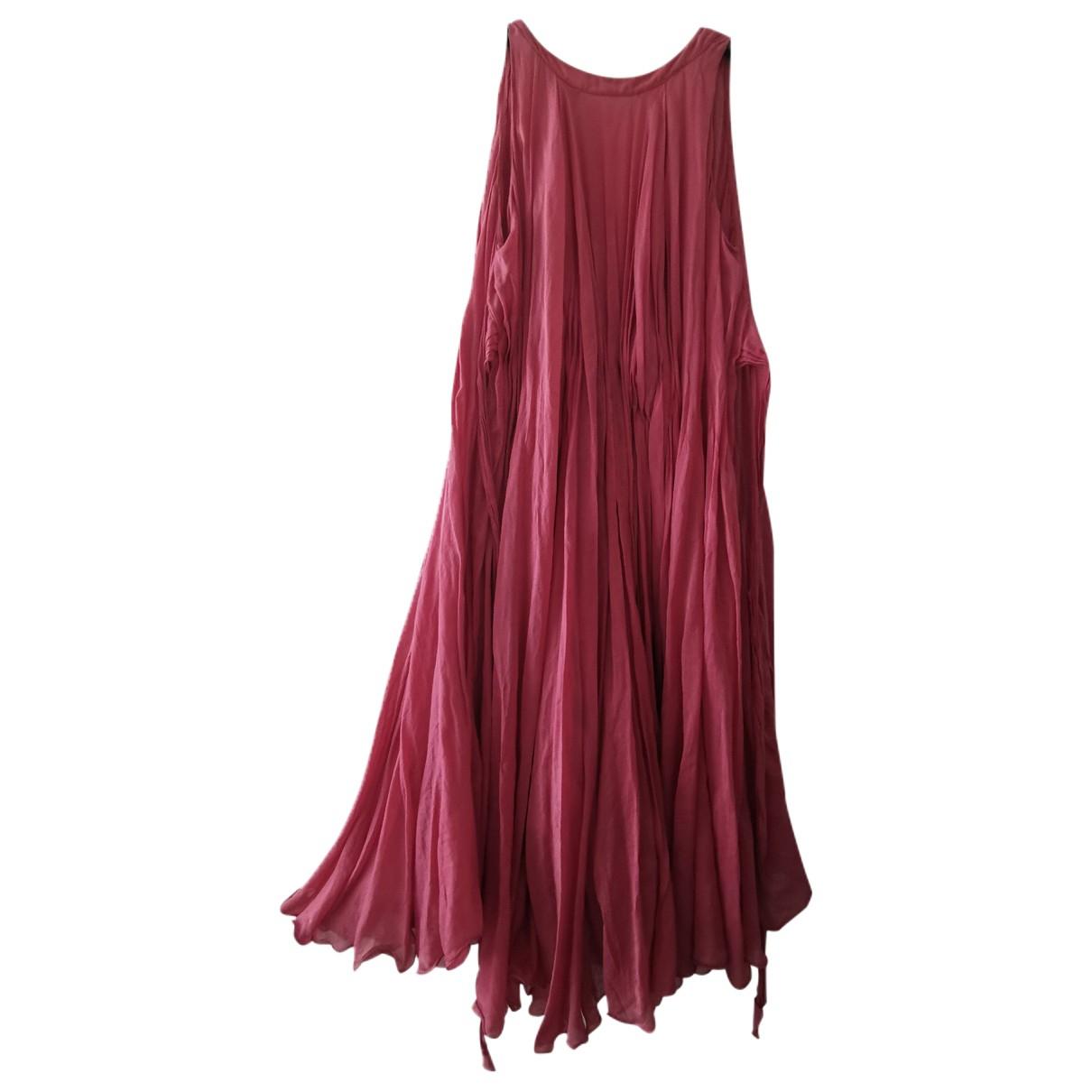 Bottega Veneta \N Kleid in  Rosa Seide