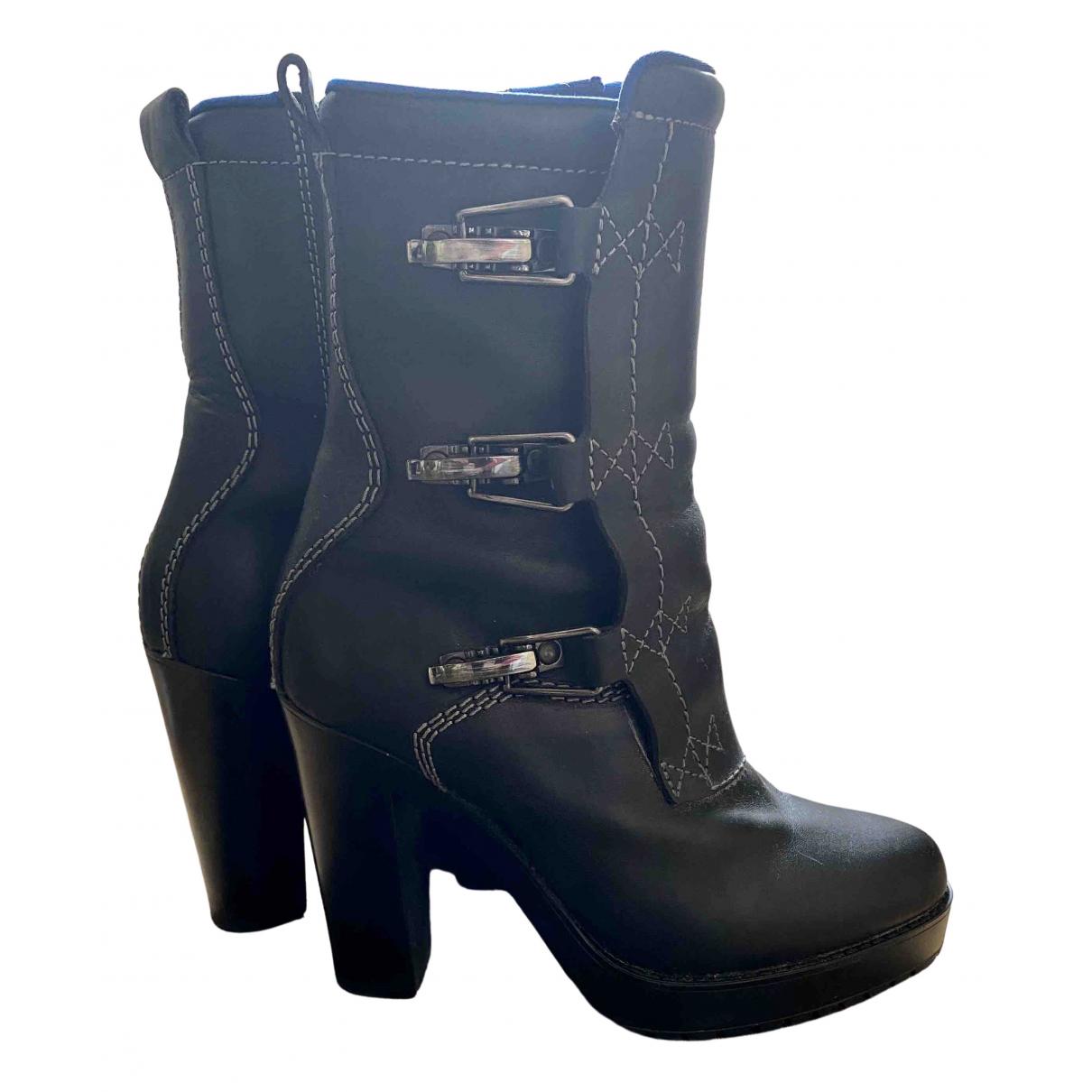 Diesel \N Stiefel in  Schwarz Leder