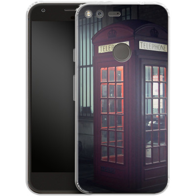 Google Pixel XL Silikon Handyhuelle - London Calling 2 von Ronya Galka
