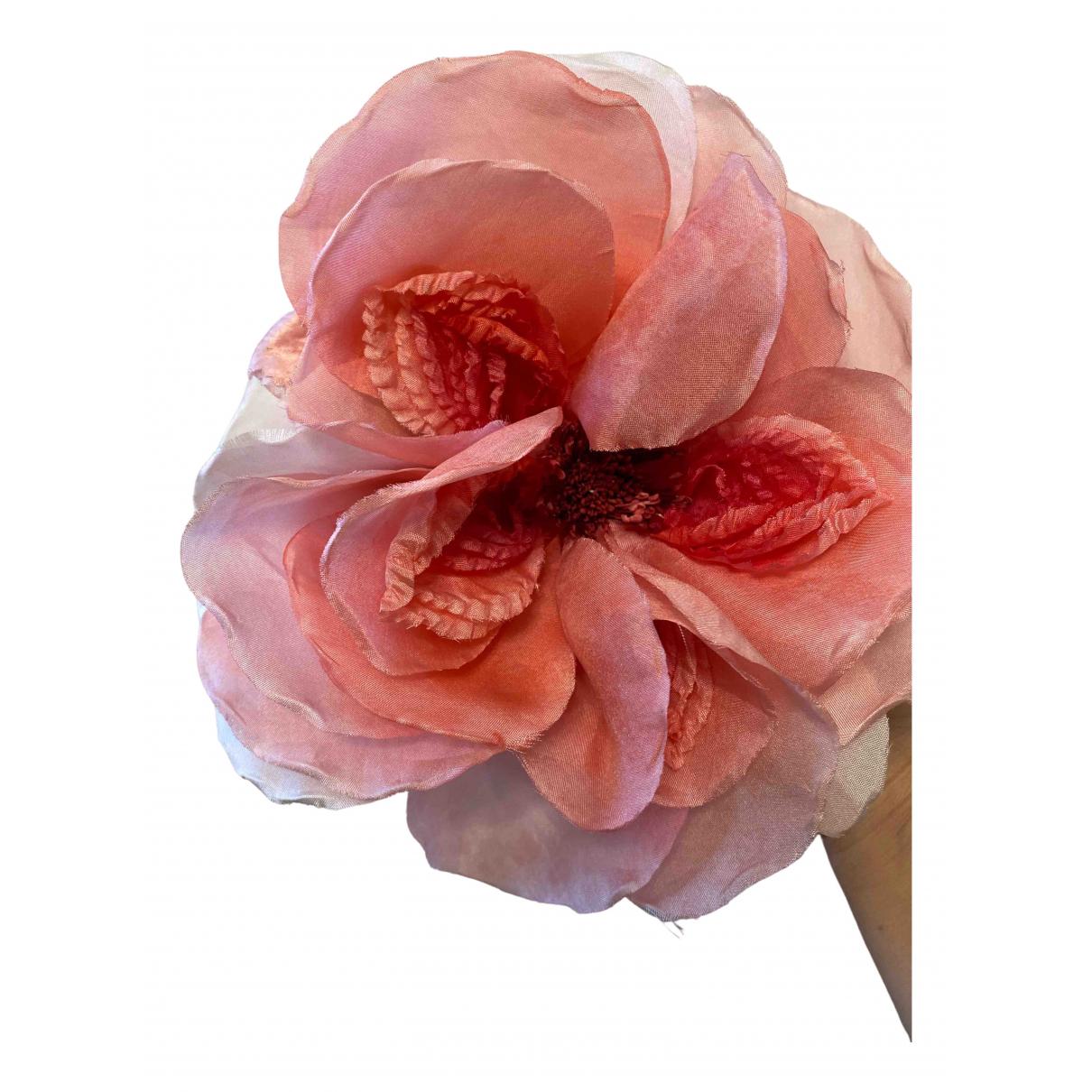 Gucci - Broche   pour femme en soie - rose