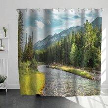 Landscape Print Shower Curtain