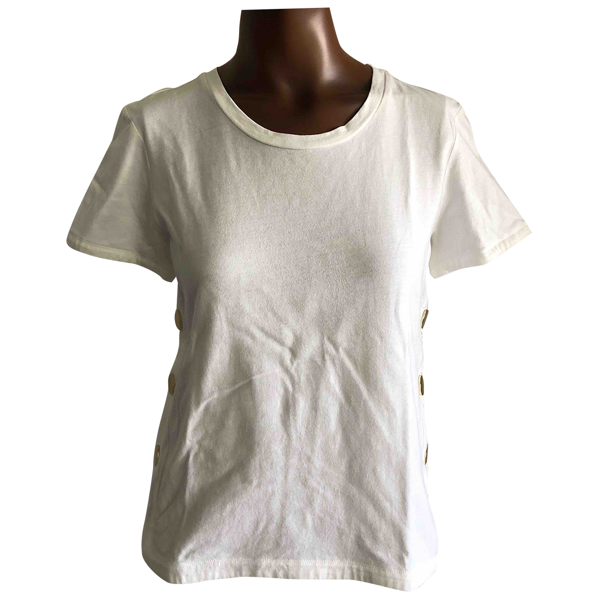 Maje \N White Cotton  top for Women 2 US