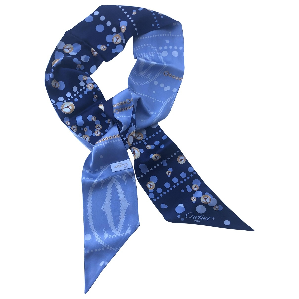 Cartier \N Blue Silk scarf for Women \N