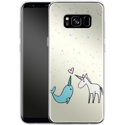 Samsung Galaxy S8 Silikon Handyhuelle - Two Horns von caseable Designs