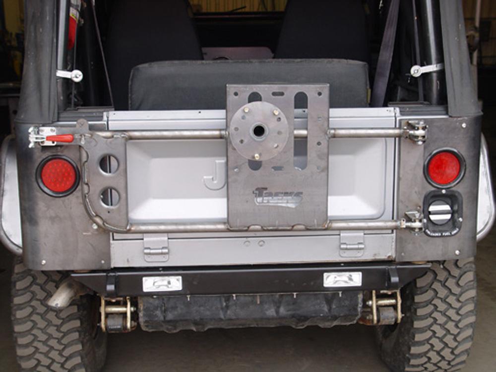 CJ Rear Bumper W/1 Inch Body Lift Bare 76 Newer Jeep CJ TNT Customs CBR1