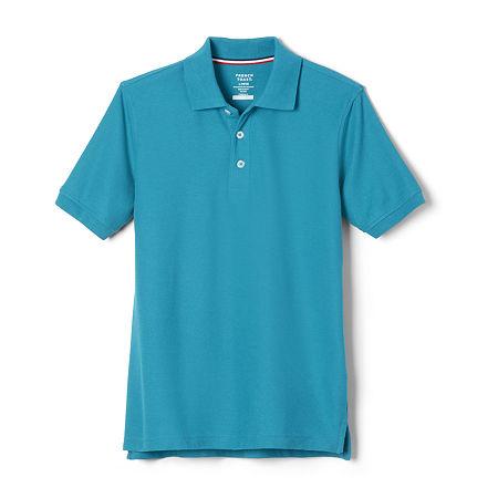 French Toast Toddler Boys Short Sleeve Polo Shirt, 3t , Blue