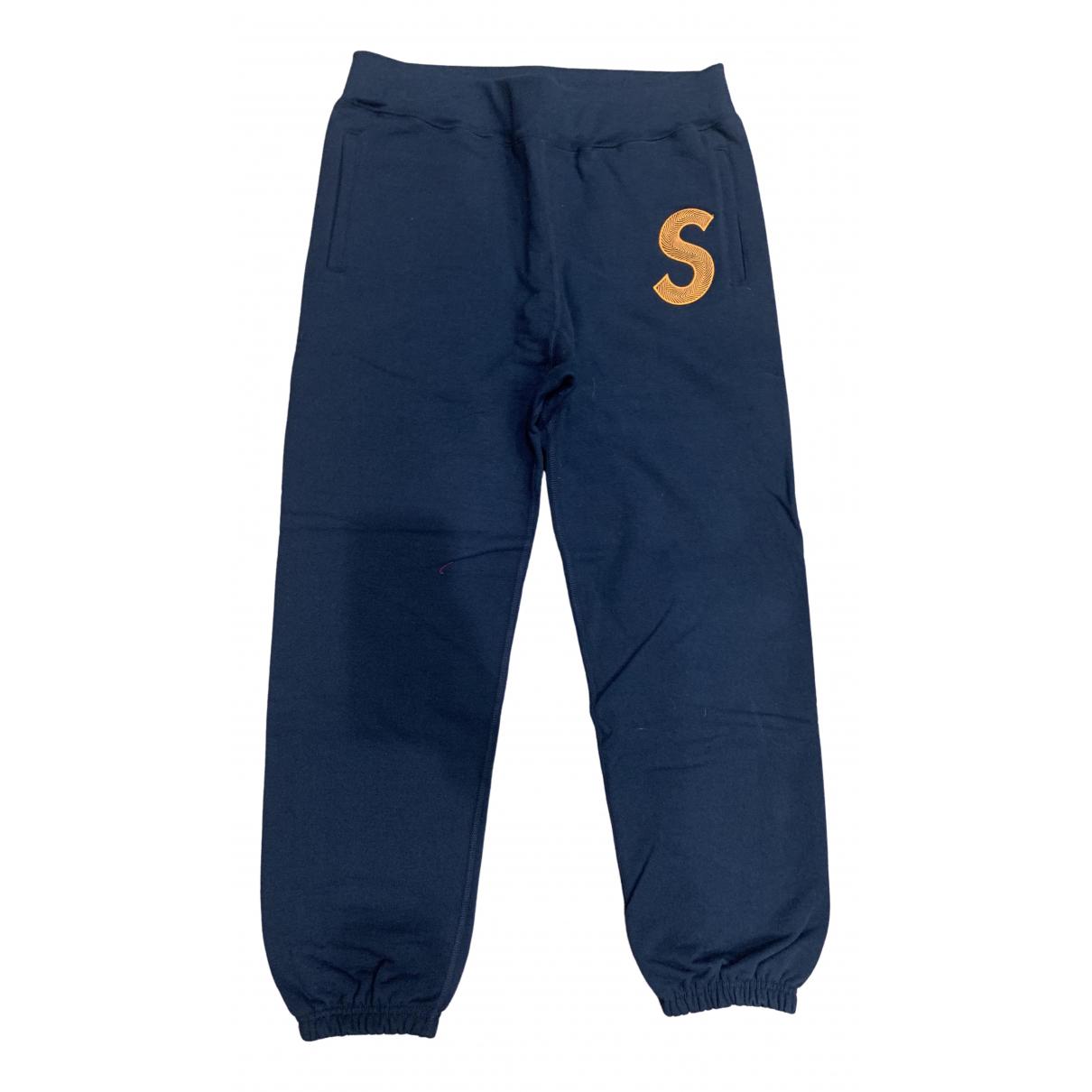Supreme \N Blue Cotton Trousers for Men L International