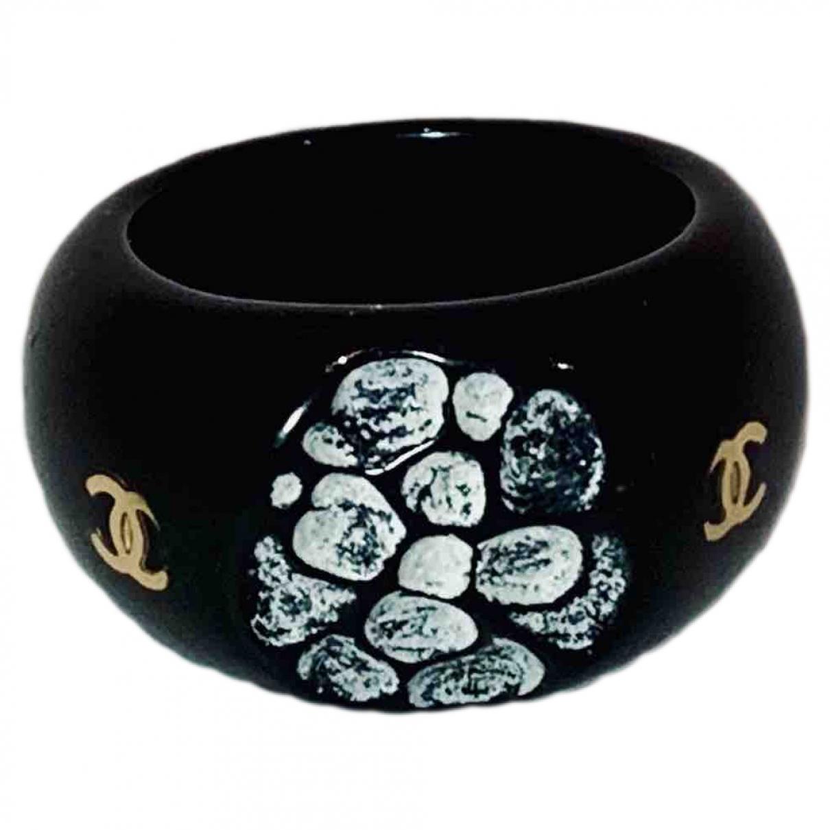 Chanel - Bague CC pour femme - noir