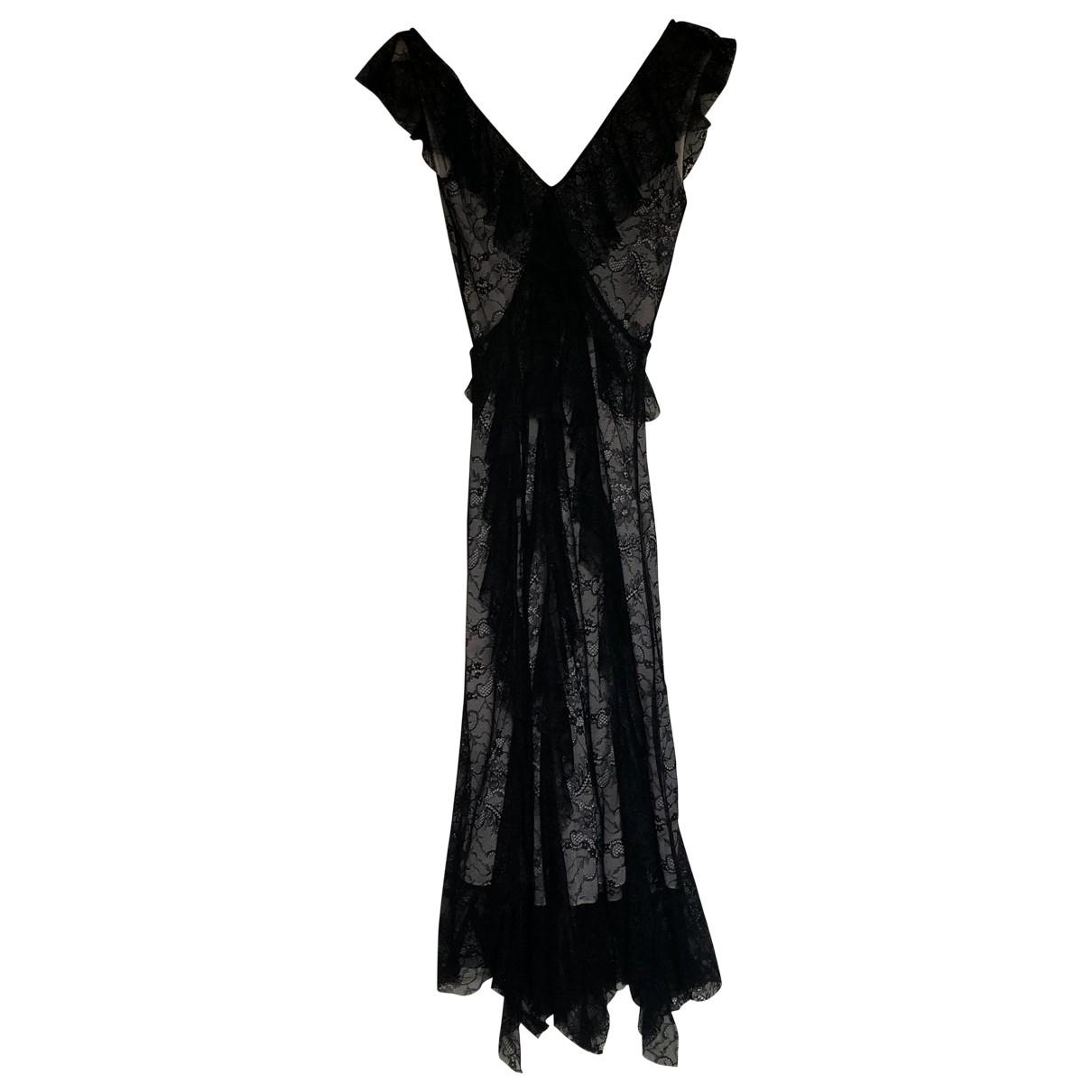 Zara \N Kleid in  Schwarz Spitze
