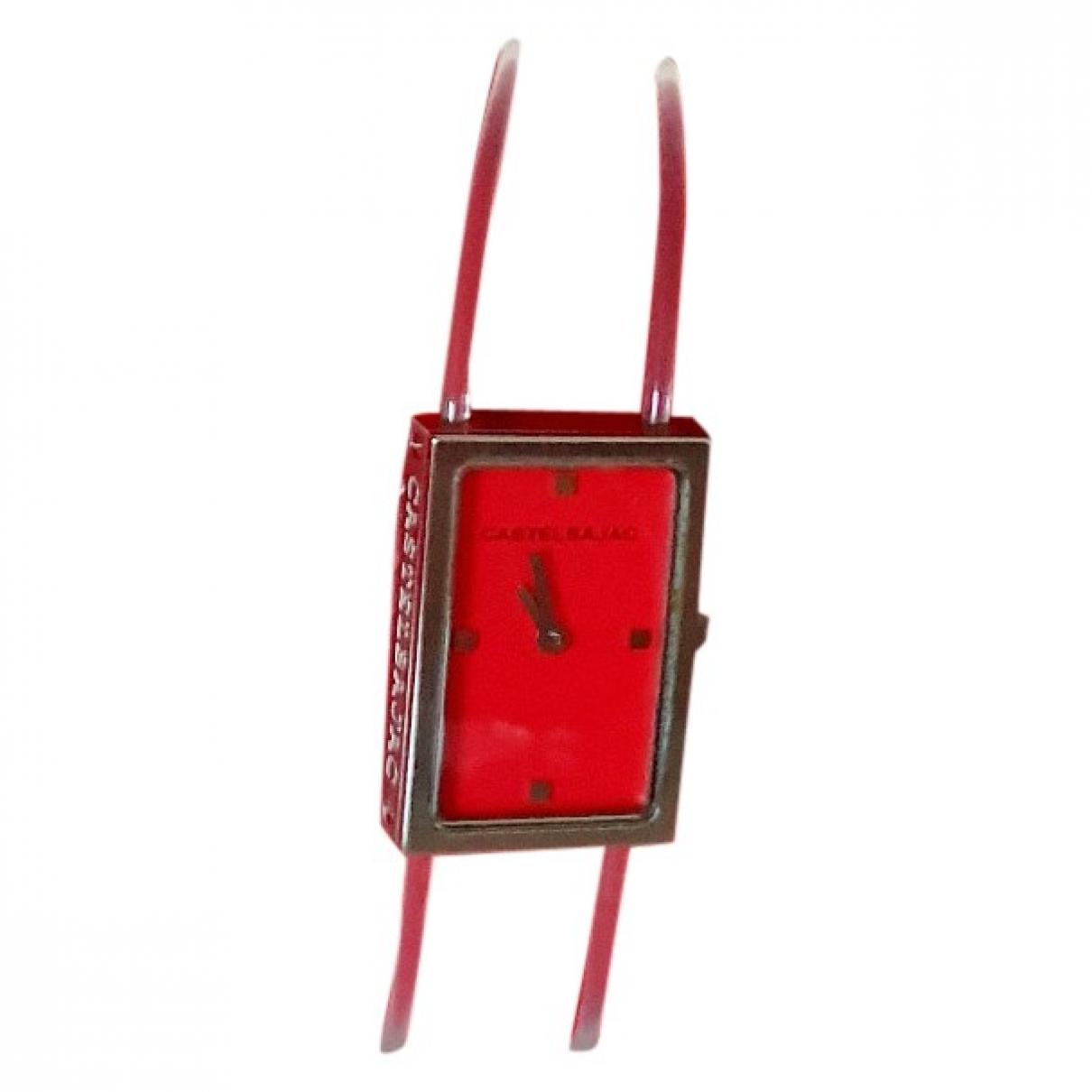 Jc De Castelbajac \N Red Steel watch for Women \N