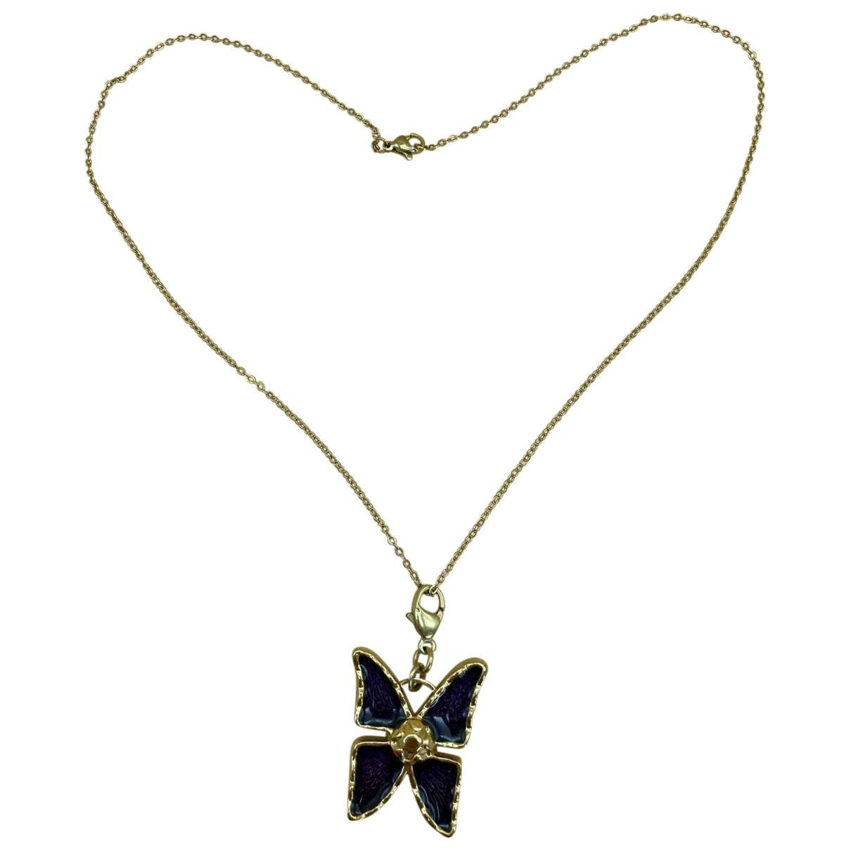 Yves Saint Laurent N Gold Metal pendant for Women N