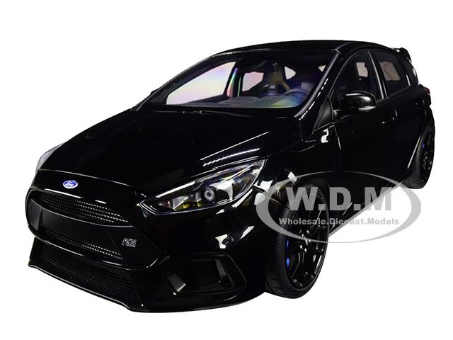 2016 Ford Focus RS Shadow Black 1/18 Model Car by Autoart