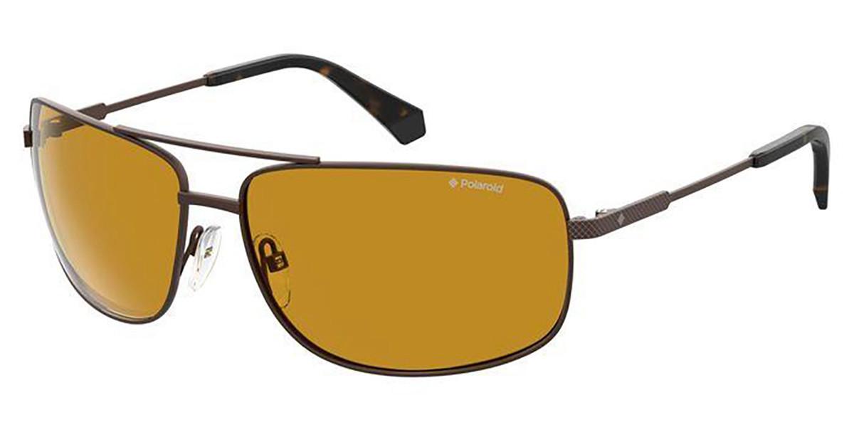 Polaroid PLD 2101/S YZ4/MU Men's Sunglasses Brown Size 63