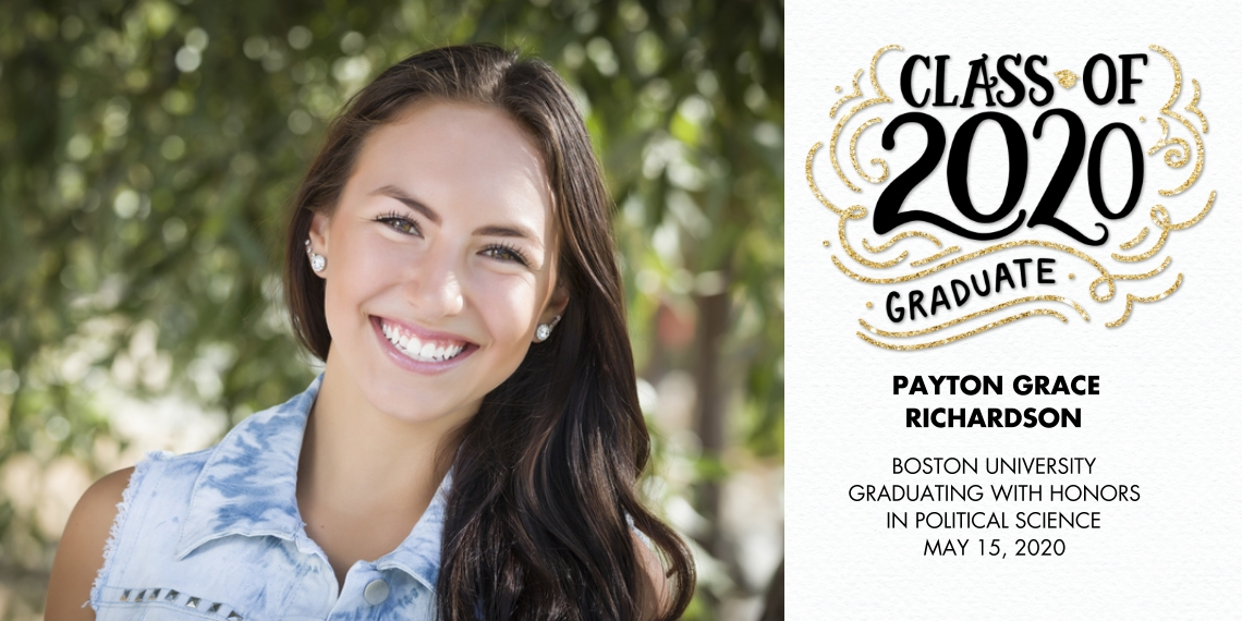 2020 Graduation Announcements Flat Glossy Photo Paper Cards with Envelopes, 4x8, Card & Stationery -2020 Class of Swirls by Tumbalina