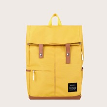 Large Capacity Snap Button Backpack