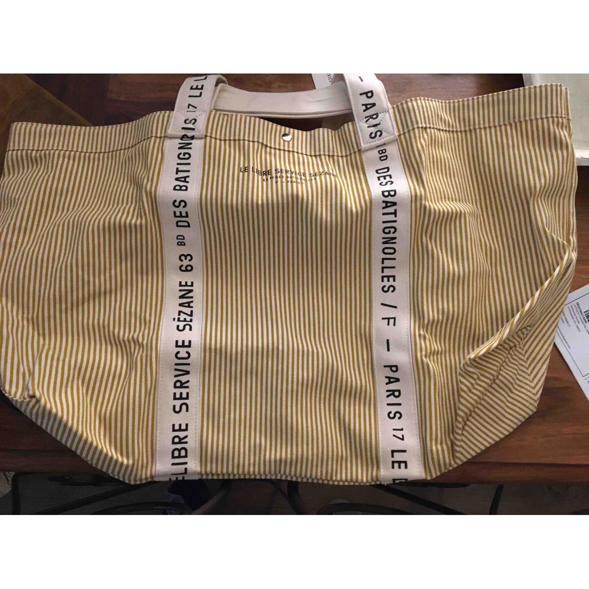 Sezane \N Handtasche in  Bunt Leinen