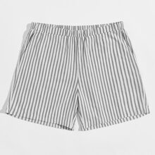 Men Slant Pocket Striped Night Shorts