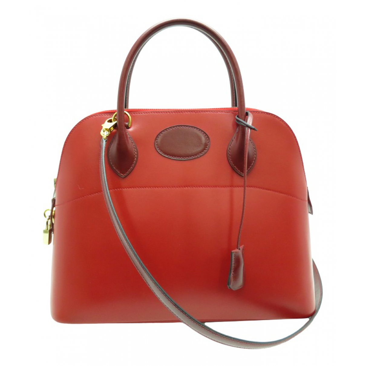 Hermès Bolide Red Leather handbag for Women N