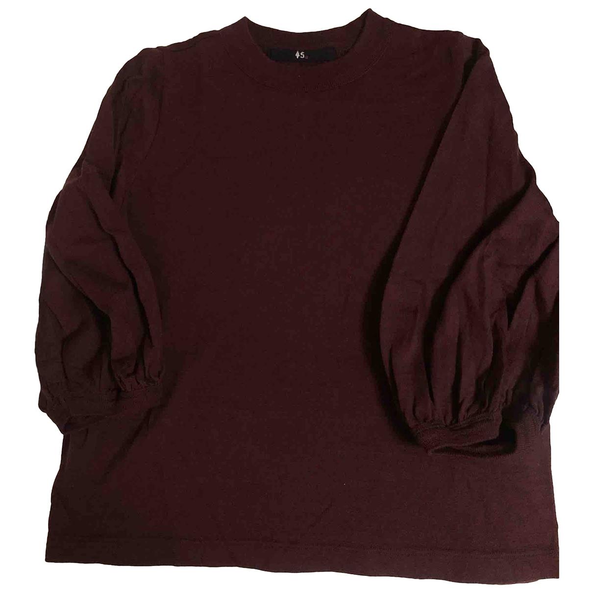 45rpm \N Burgundy Wool Knitwear for Women 0 0-5