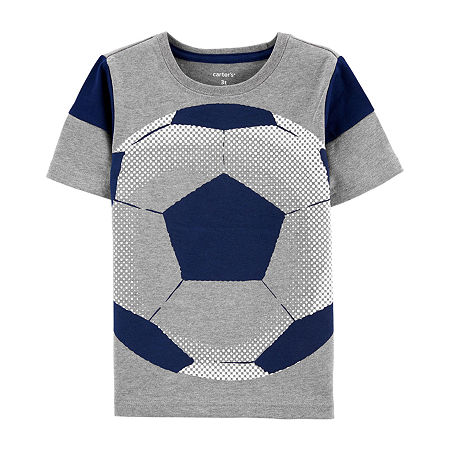 Carter's Toddler Boys Round Neck Short Sleeve Graphic T-Shirt, 2t , Gray