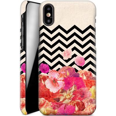 Apple iPhone X Smartphone Huelle - Chevron Flora II von Bianca Green