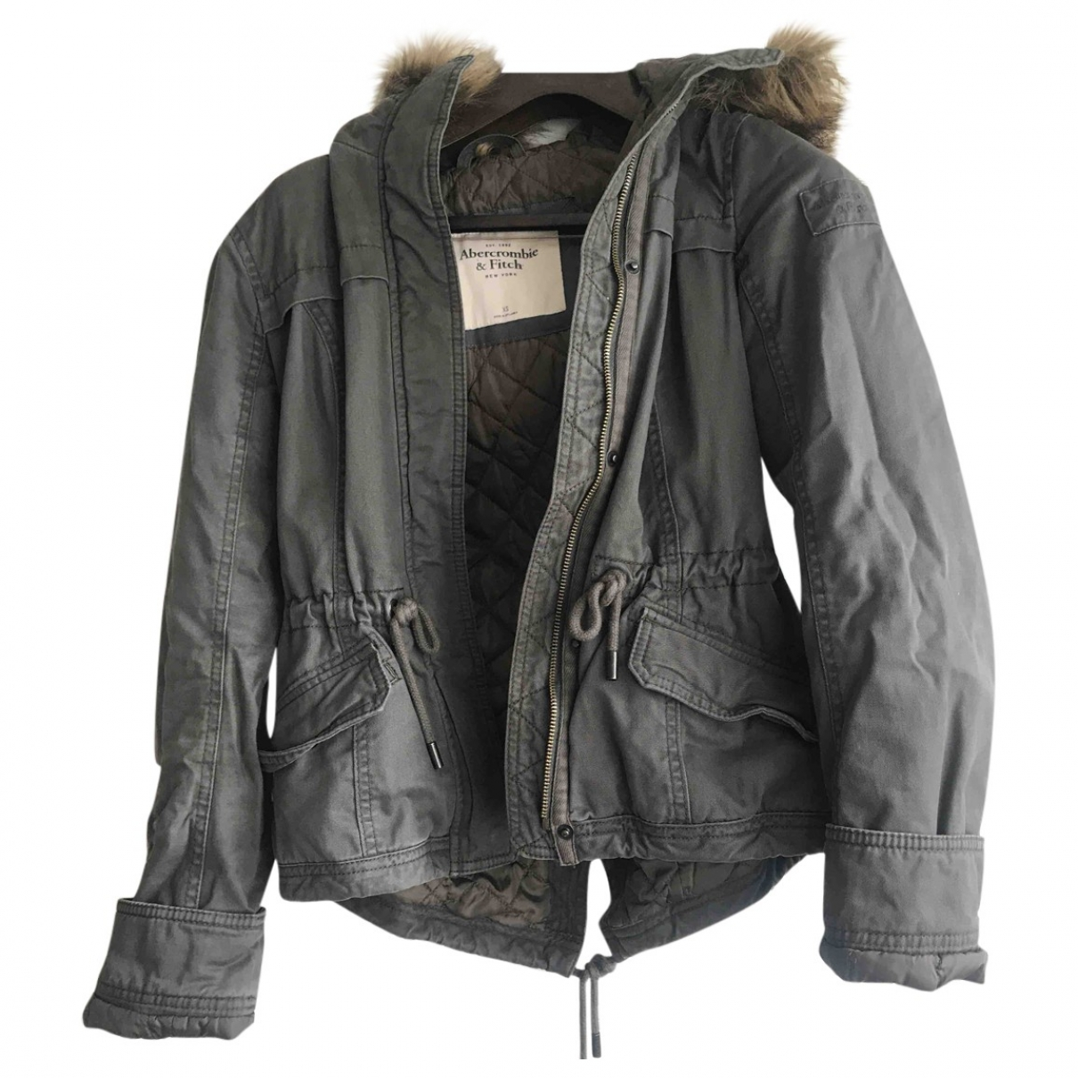 Abercrombie & Fitch \N Maentel in  Khaki Polyester
