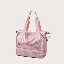 Minimalist Pocket Side Tote Bag