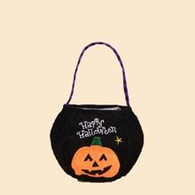 Halloween Pumpkin Pattern Candy Bag