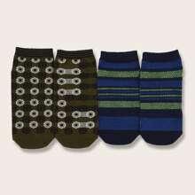 2 pares calcetines de lunares