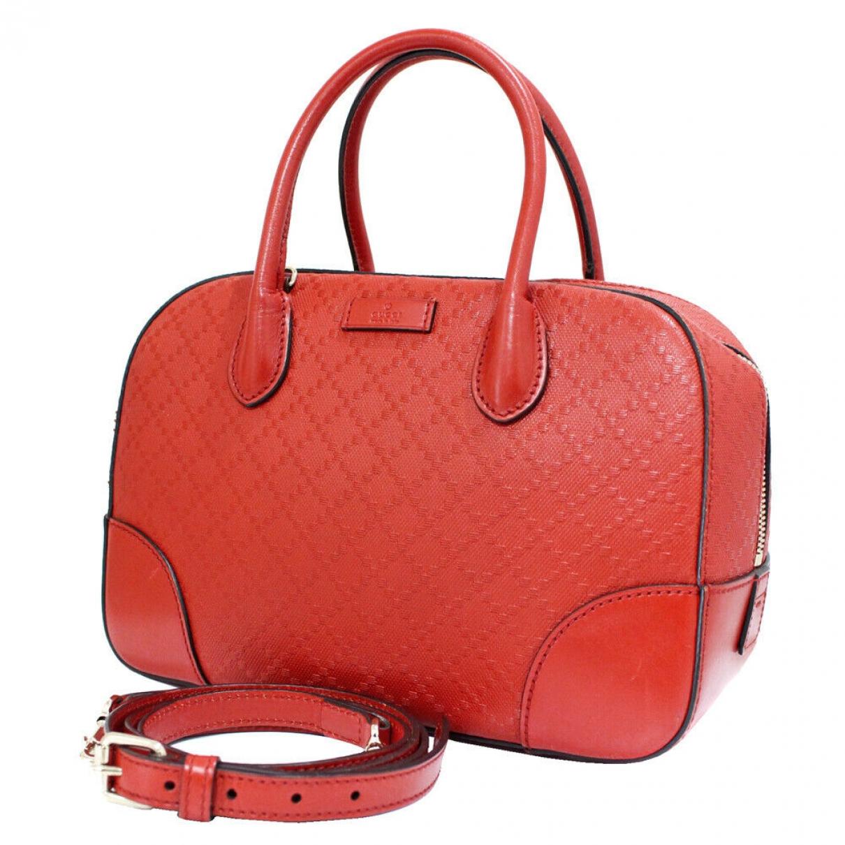 Gucci \N Handtasche in  Rot Leder