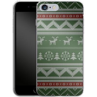 Apple iPhone 6s Plus Silikon Handyhuelle - Norwegian Jumper Green von caseable Designs