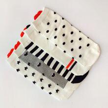 5pairs Polka Dot Pattern Socks
