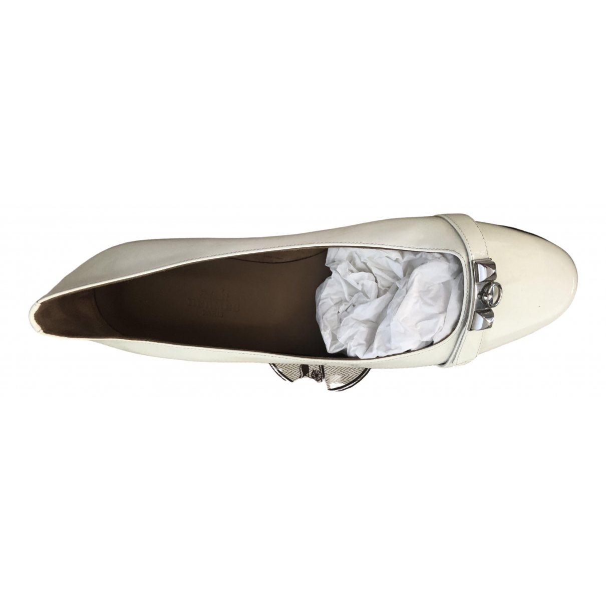 Hermès Liberty White Leather Ballet flats for Women 38.5 EU