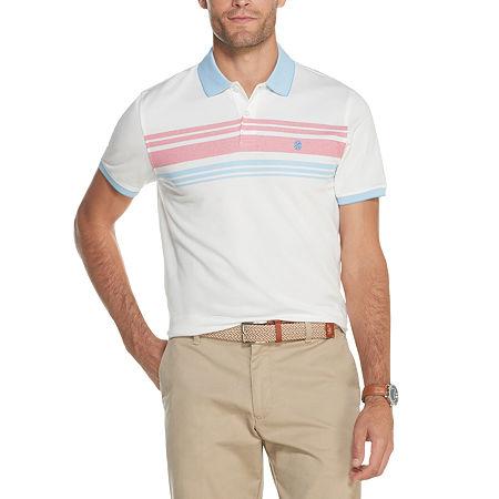 IZOD Mens Advantage Performance Colorstripe Polo Shirt, X-large , White