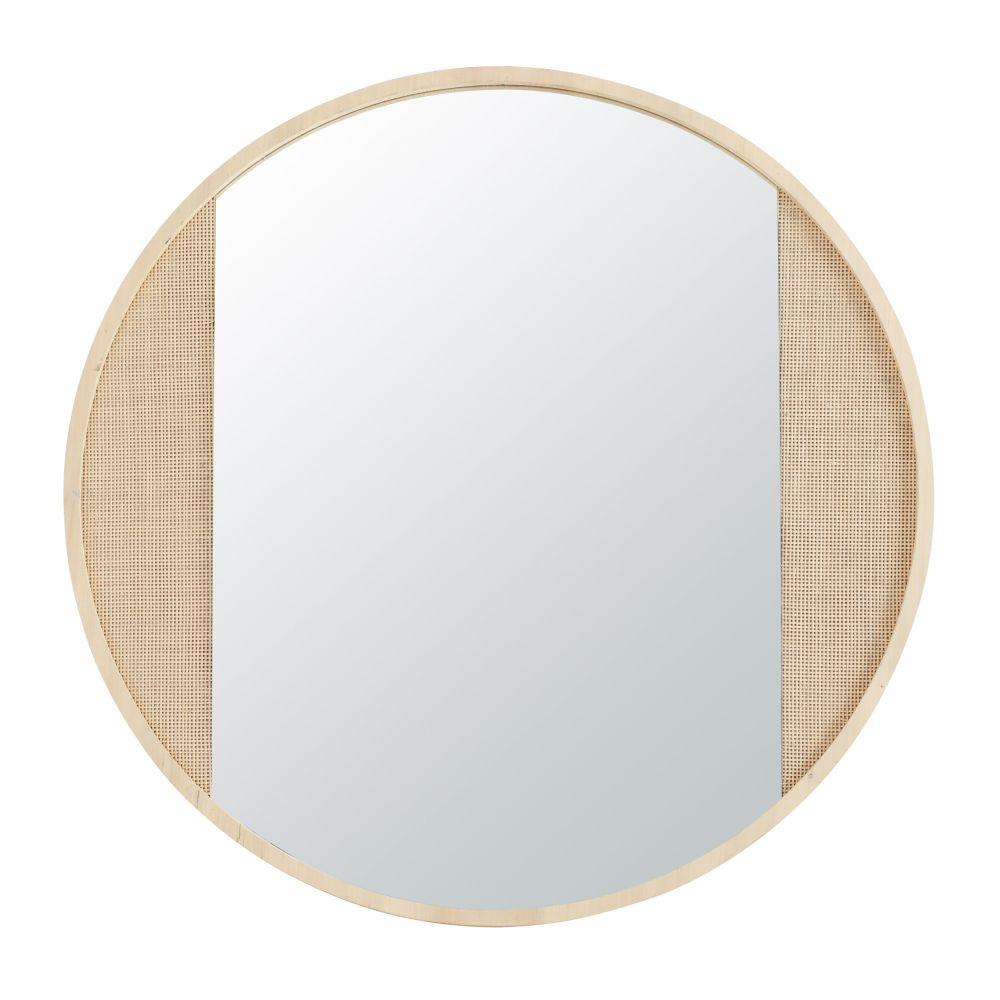 Runder Spiegel aus Geflecht D100