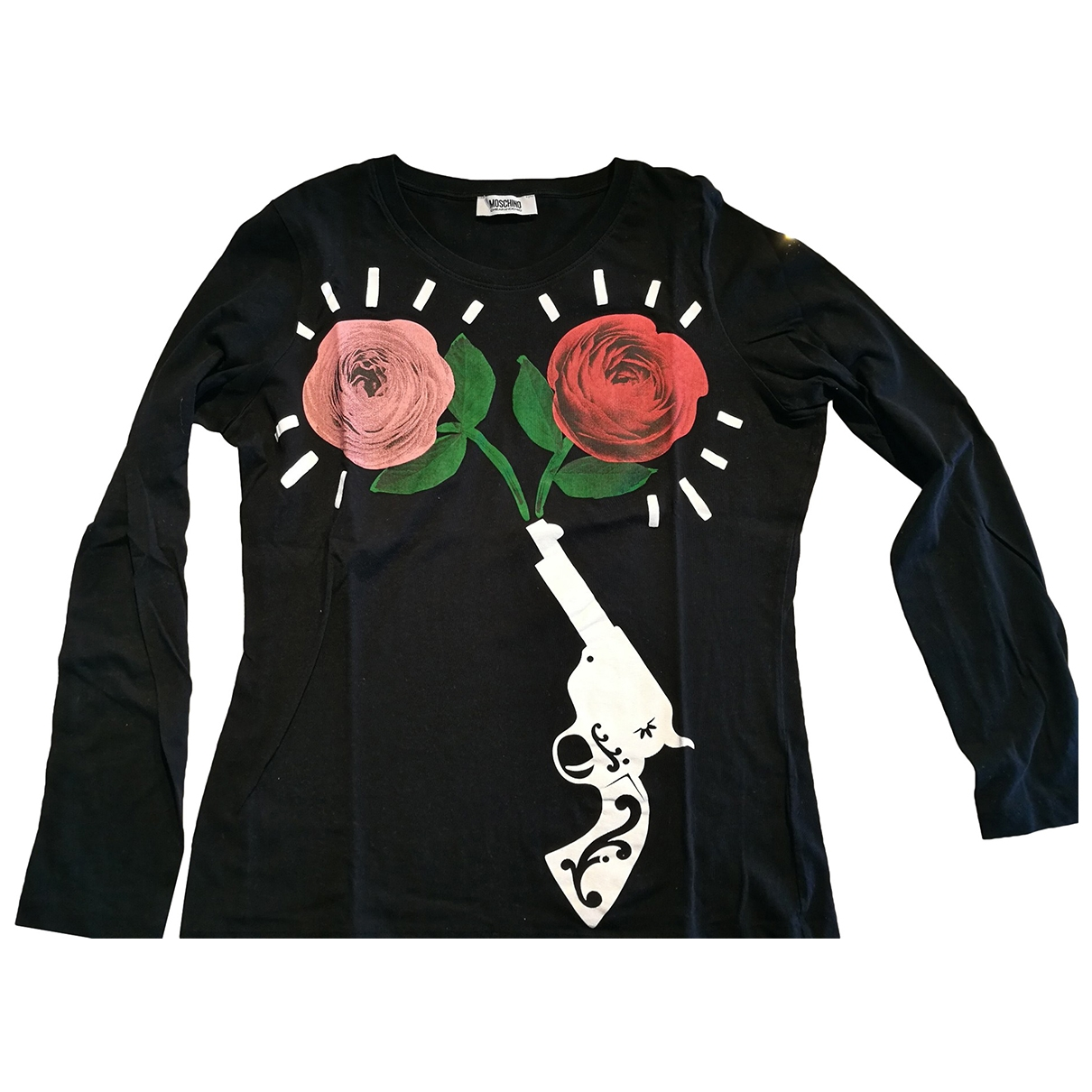 Moschino Cheap And Chic - Top   pour femme en coton - noir